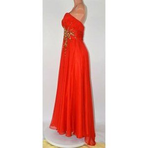 Cinderella Divine Red Formal Gown Prom Dress Sz 8